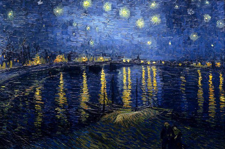Noche estrellada sobre el Ródano de Vincent Van Gogh